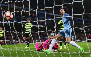 Manchester City 5 Huddersfield Town 1: First-half blitz seals last-eight spot after Bravo blunder