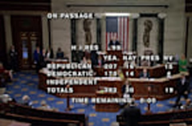 U.S. House passes bill to avert government shutdown