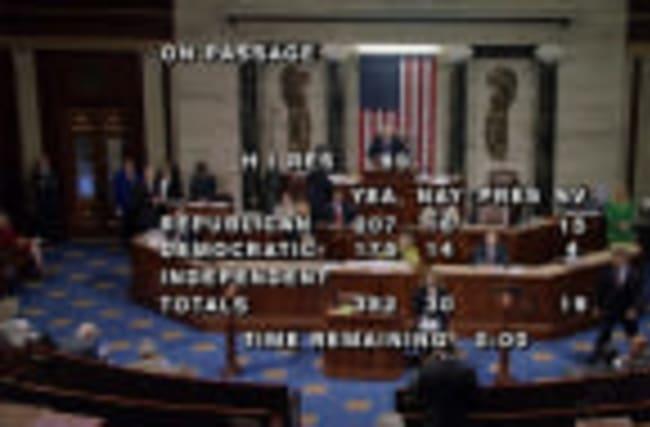 U.S. House passes bill to avert government shutdown