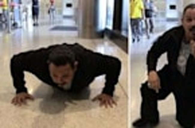 Emilio Rivera -- The White Zone is for Push Up Challenge
