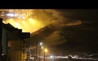 Storm Doris batters Ireland's coast
