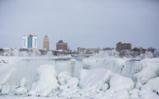 Niagara Falls freezes as extreme weather hits US