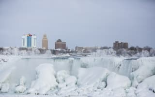 Niagara Falls freezes as extreme weather hits US