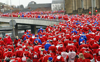 Liverpool Santa dash: Which one is the real Father Christmas?