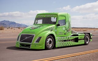 Volvo's 'mean green' truck breaks two world speed records