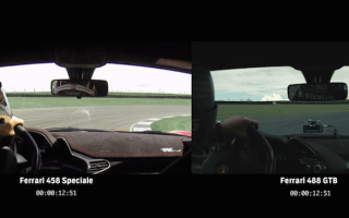Ferrari 458 Speciale pitched against 488 GTB on track