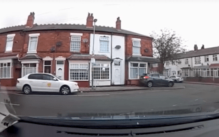 Watch as a car reverses into a house in Birmingham