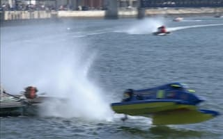 Powerboat racer Ahmad Al Hameli crashes spectacularly in opening round of World Championships