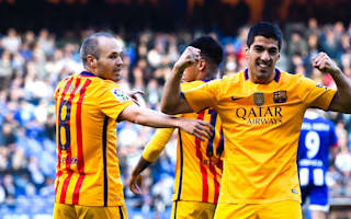 Deportivo La Coruna 0 Barcelona 8: Suarez hits four to get Catalans back on track