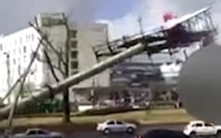 Falling billboard injures five in Mexico after high winds