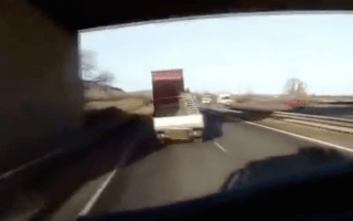 Police release footage of moment distracted lorry driver kills man