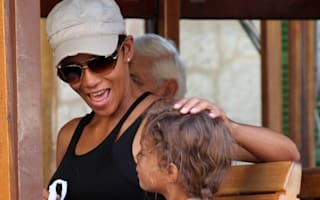 Halle Berry has fun in the Mallorcan sun