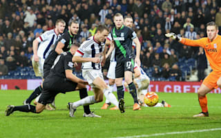 West Brom 2 Stoke City 1: Evans snatches late win for Pulis' men