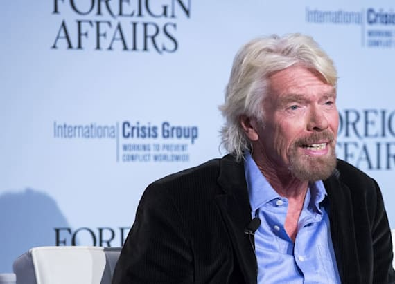 Richard Branson bloodied in bike accident
