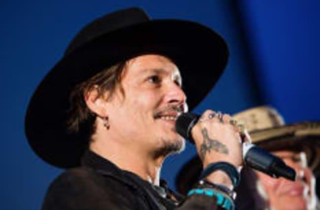 Depp jokes about Trump assassination at Glastonbury