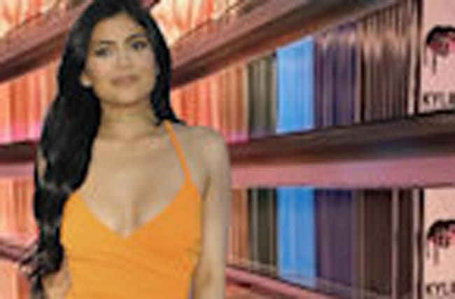 Kylie Jenner Builds A Crazy Wall of Lip Kits for Pop-Up Shop