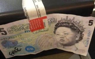 Fake £5 notes carry Kim Jong-un's face