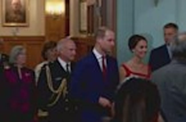 Duchess of Cambridge stuns in red at historic ceremony
