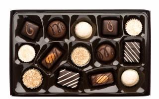 Freebie Friday: chocolates, chocolate coins, chocolate spread, and hot chocolate