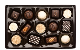 Freebie Friday: chocolates, chocolate coins, chocolate spread, and hot chocolate