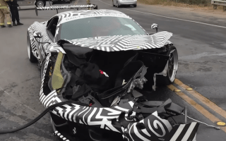 Heavily modified Ferrari 458 has front end totally ripped off