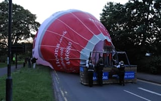 Hot air balloon crash-lands on Bath city centre road
