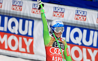 Stuhec wins downhill globe, keeps Shiffrin waiting for overall glory