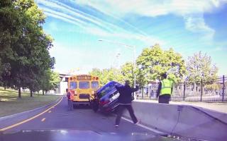 BMW road rage driver receives instant karma