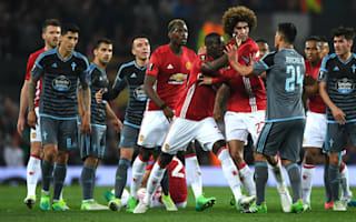 Manchester United 1 Celta Vigo 1 (2-1 agg): Mourinho's men squeeze through to Europa League final as tempers flare