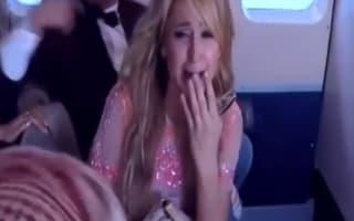 Screaming Paris Hilton in plane crash prank (video)