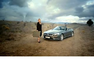 No place like home: Mercedes SL features in new fashion advert