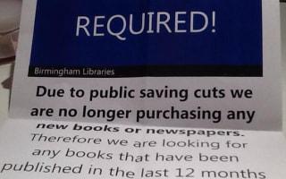 Birmingham libraries beg public for books
