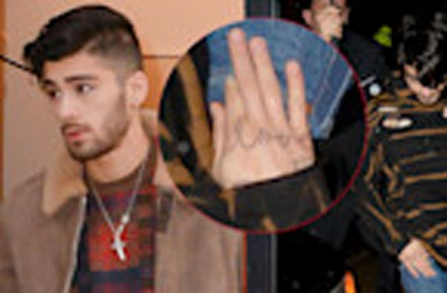 "Zayn Debuts ""LOVE"" Tattoo for Gigi While Filming Ocean's Eight Cameo"