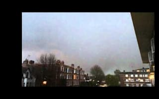 Moment lightning strikes Heathrow-bound plane