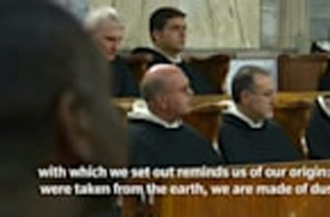 Pope Francis leads Ash Wednesday mass in Rome