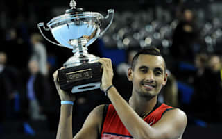 Kyrgios delights in unexpected maiden ATP title