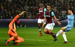 West Ham 0 Manchester City 5: Guardiola bites back to silence London Stadium