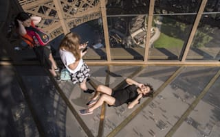 Eiffel Tower's terrifying new glass floor unveiled