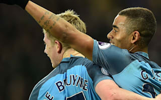 City speedsters keeping De Bruyne on his toes
