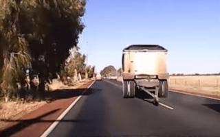 Motorist in terrifying close call with runaway trailer