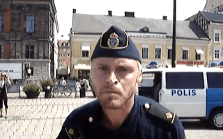 Swedish traffic 'policeman' busts out some serious dance moves