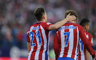 Atletico Madrid 4 Malaga 2: Gameiro and Carrasco net doubles as Savic sees red