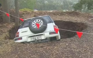Couple 'bruised' after sinkhole swallows car