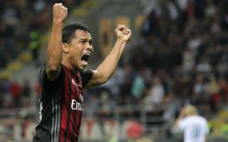 AC Milan 2 Lazio 0: Bacca again on the scoresheet