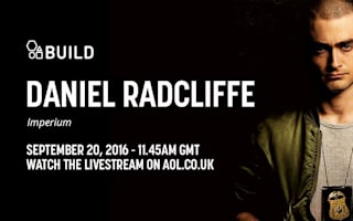 Watch live as online Daniel Radcliffe joins us in the AOL Build UK Studio
