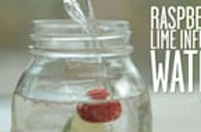 How to Make Raspberry-Lime Infused Water