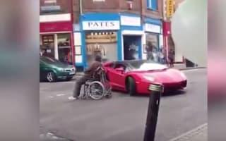 Man in wheelchair deliberately blocks path of Lamborghini (video)