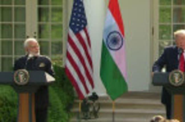 "Trump says he, India's Modi are ""world leaders in social media"""