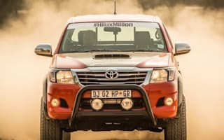 In goes the V8: Toyota goes wild to celebrate Hilux milestone