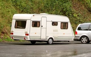 Unfinished £80m bypass becomes travellers' campsite